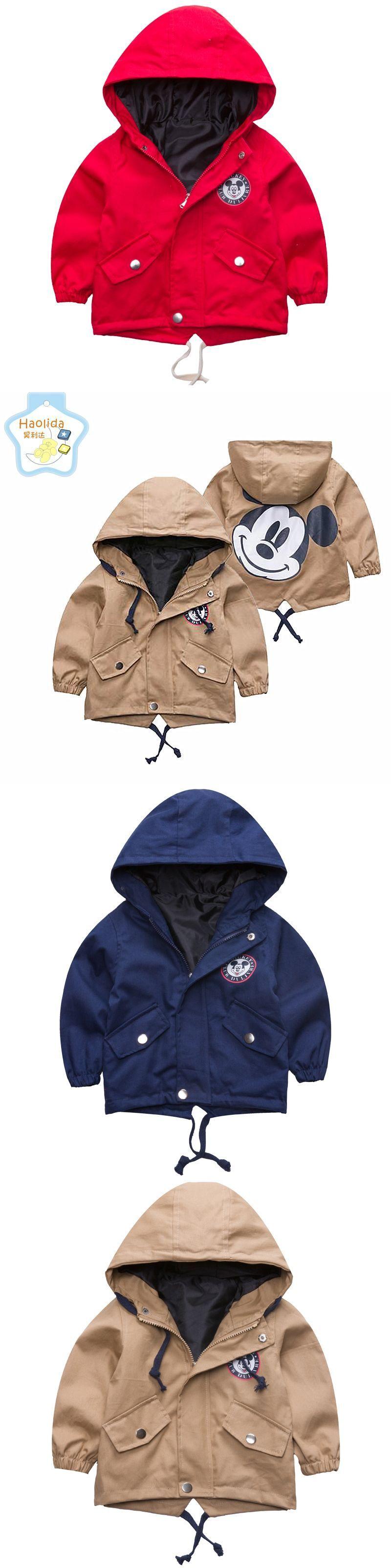 1c4ee30dafec 2017 Autumn Jacket Boys Girls Kids Outerwear Cute Mickey Windbreaker ...