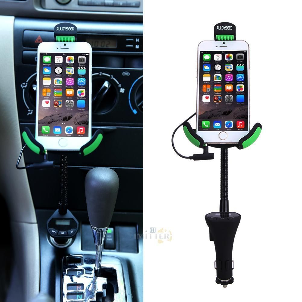 Alloyseed car mount holder 31a usb car charger and fm