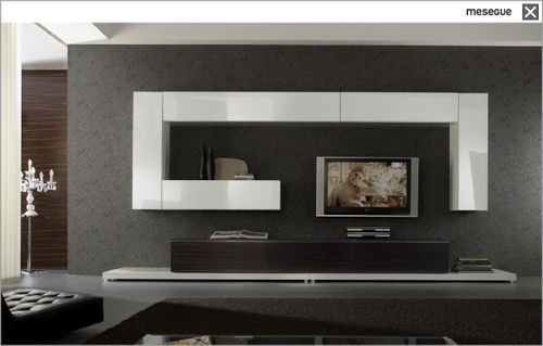 Contemporary Tv Wall Unit Wooden Lacquered Wood Living Room Modern Living Design Home