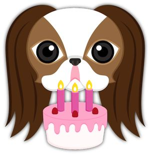 Birthday Cake Japanese Chin Puppy Dog Emoji Keyboard Stickers Japanesechin Bdaycake Birthdaycake Birthdaygirl Birthdayparty
