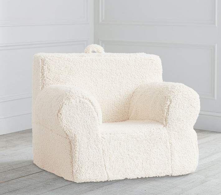 Miraculous Pottery Barn Kids Cream Sherpa Oversized Anywhere Chair Uwap Interior Chair Design Uwaporg