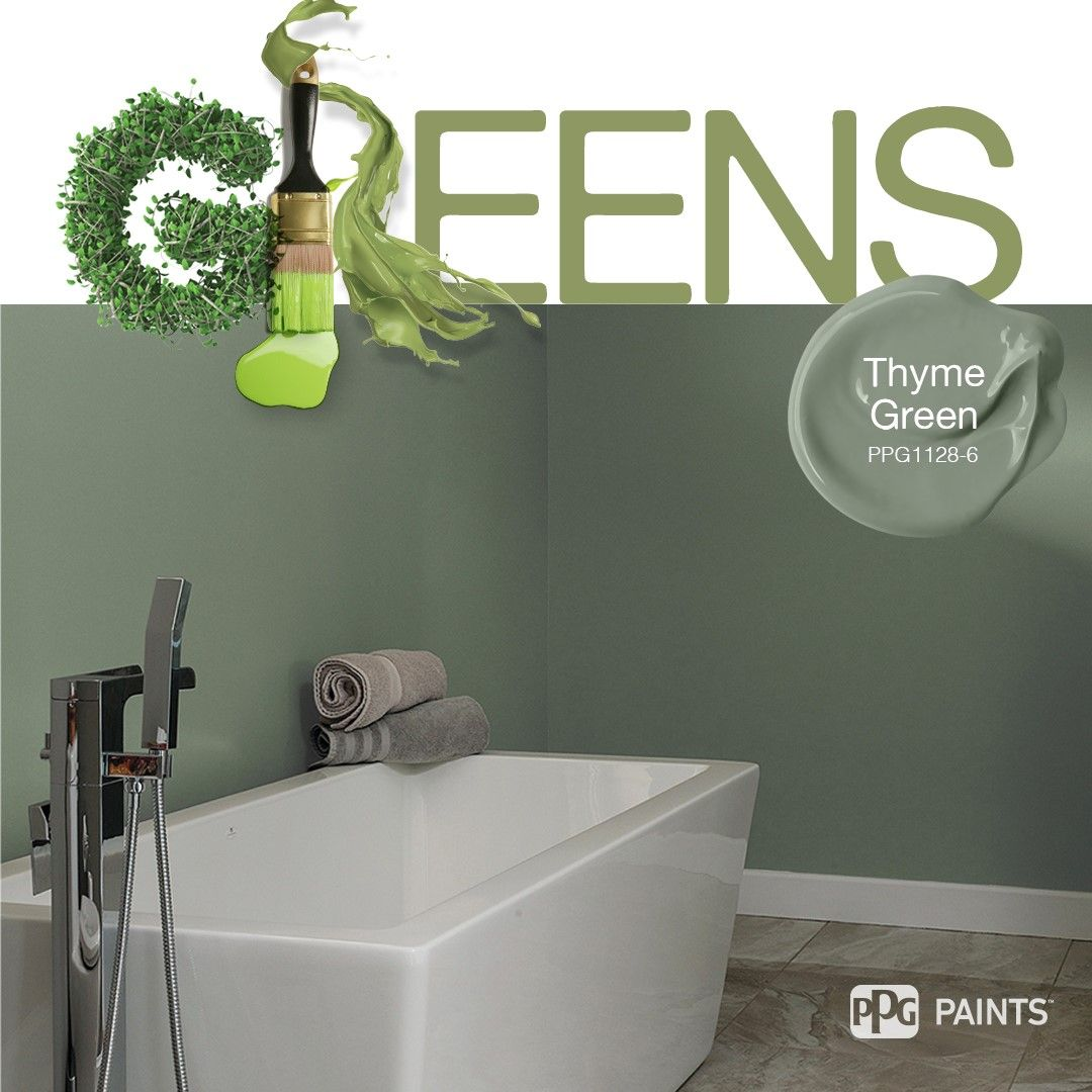 Trending Green Paint Colors Soft Green Bathroom Color Inspiration Paint Color Thyme Green B Bathroom Paint Colors Green Bathroom Paint Trending Paint Colors