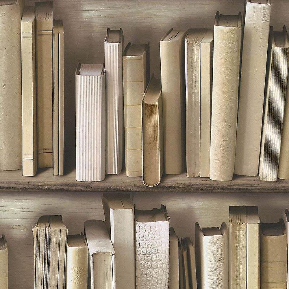 Bookcase Library Study Books Shelf Vinyl Wallpaper Textured Beige B Vinyl Wallpaper Textured Wallpaper Small Bedroom Office