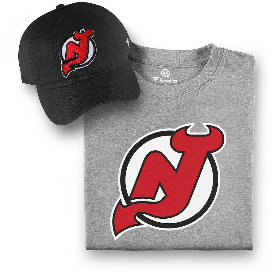 best service ff5e1 29389 Men's New Jersey Devils Fanatics Branded Black/Gray T-Shirt ...