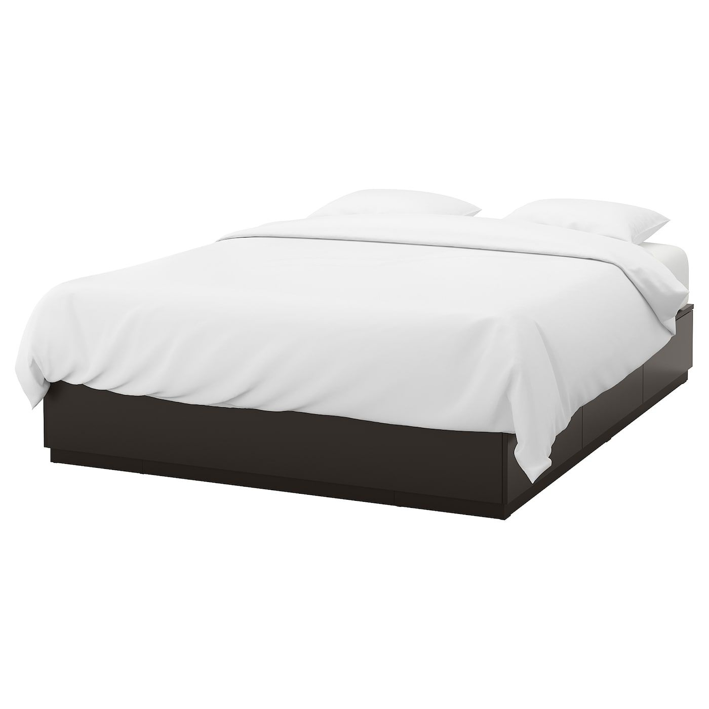 Nordli Bed Frame With Storage Anthracite Ca Ikea Bed Frame