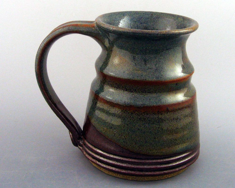 Stoneware Pottery Coffee Mug 16 oz.  |Black Stoneware Pottery Mug