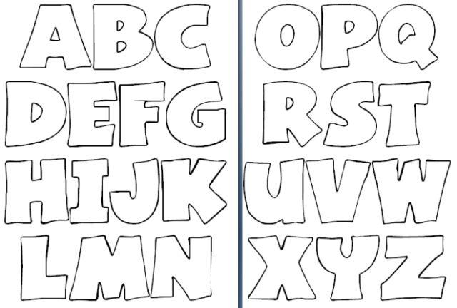 Moldes Letras Abecedario Grandes Para Imprimir Lugares Que Visitar