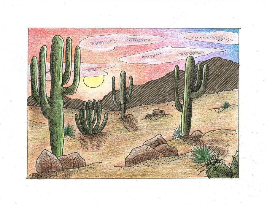 AZ Desert Landscape by silverwolf71190 deviantart com on @DeviantArt