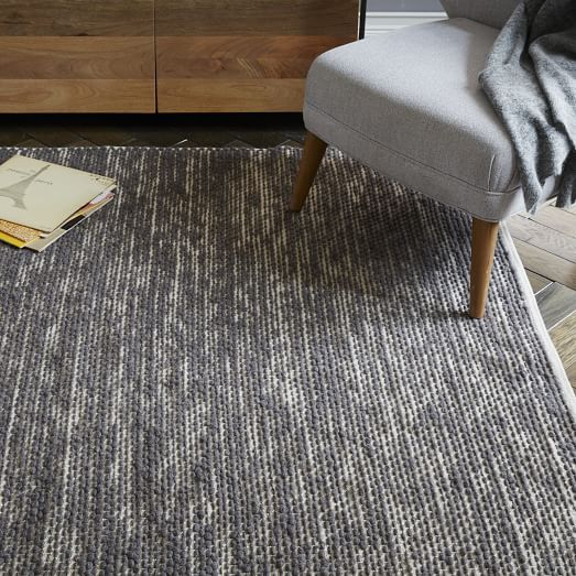 Painter S Cotton Wool Rug Feather Gray West Elm Rugs Wool Rug Contemporary Rugs
