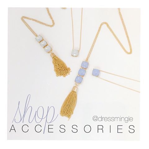 T.G.I.F. Come see us today! Open until 6pm! #weship #dressmingle #jewelry #fashionaccessories #longnecklace #shortnecklace #tgif