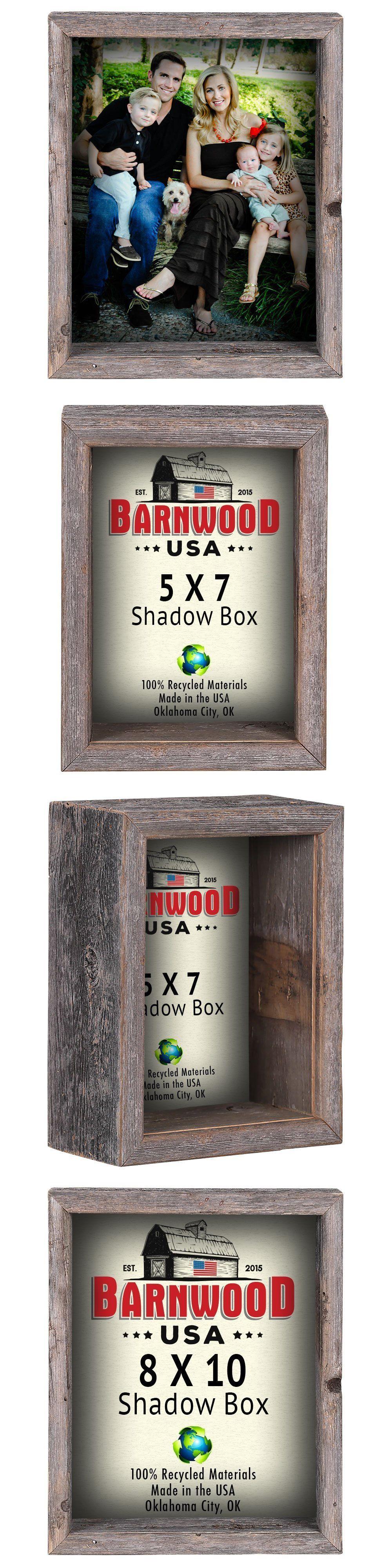 Double pistol handgun revolver gun display case cabinet rack shadowbox - Shadow Boxes 41512 Barnwoodusa Shadow Box Frame 100 Reclaimed Weathered Wood