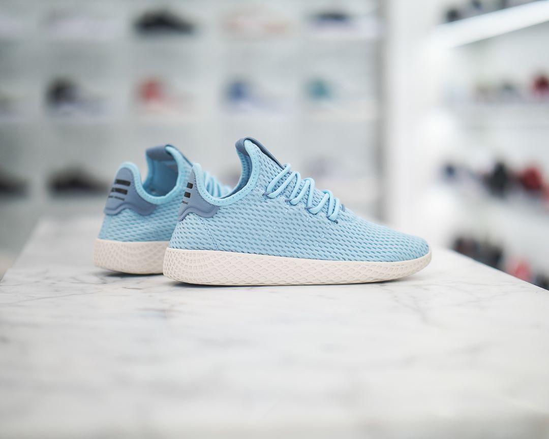 Pharrell X Adidas Originals Pw Tennis Hu Ice Blue White Sneaker Adidas Sneakers Adidas