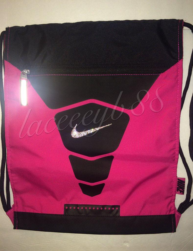 881f6bc9702b Bling Swarovski Nike Vapor Gym Sack-Pink by laceeeyb88 on Etsy ...
