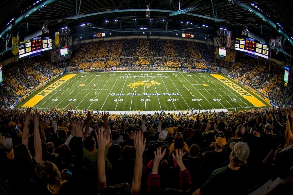 The Fargodome Is Home To The Ndsu Bison Football Team Bison Football Ndsu Bison Football Ndsu Bison
