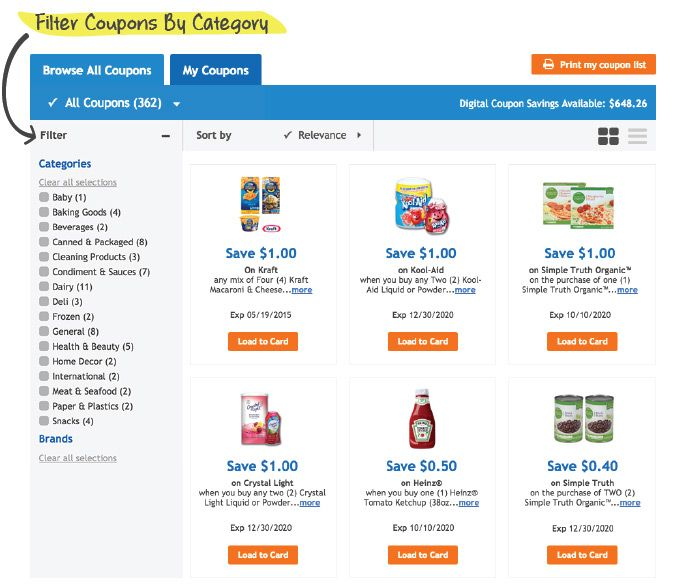 Kroger Digital Coupons (With images) Digital coupons