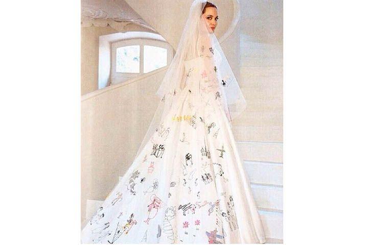 Dress angelina jolie wedding