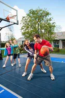 Backyard Sport Courts House Plans And More Backyard Sports Home Basketball Court Sport Court