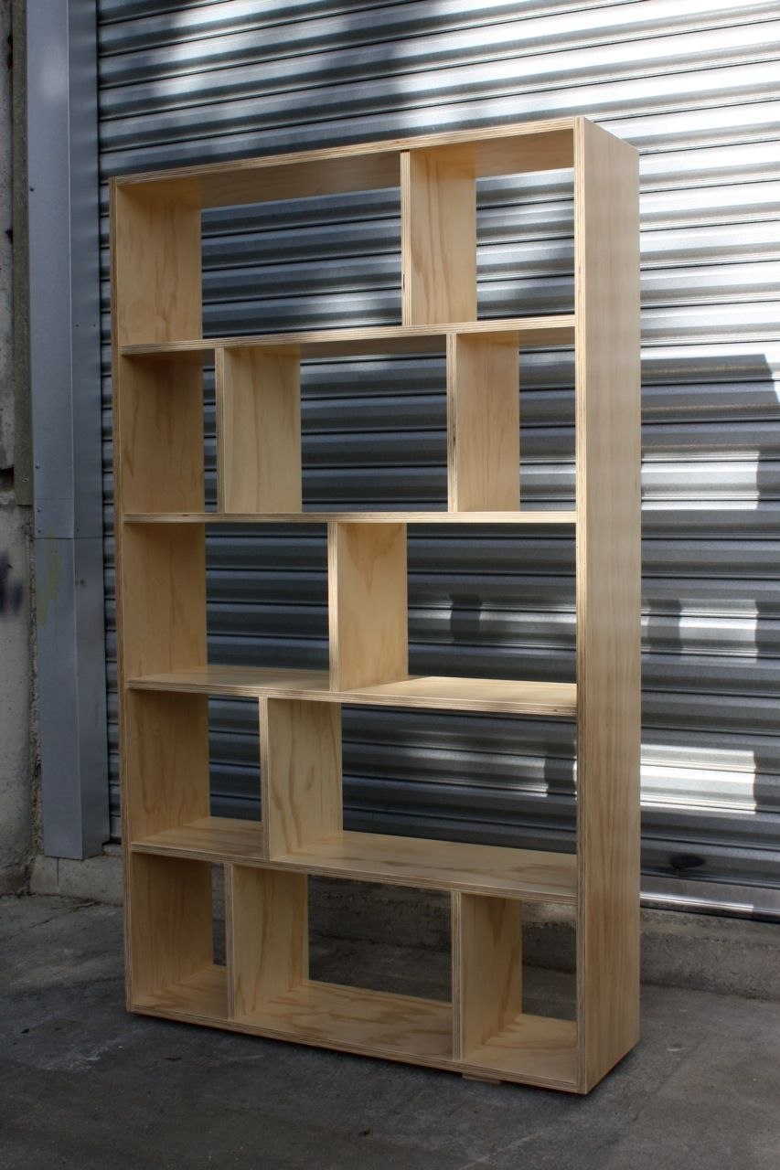 plywood bookcase two simple bookcase designs that are made
