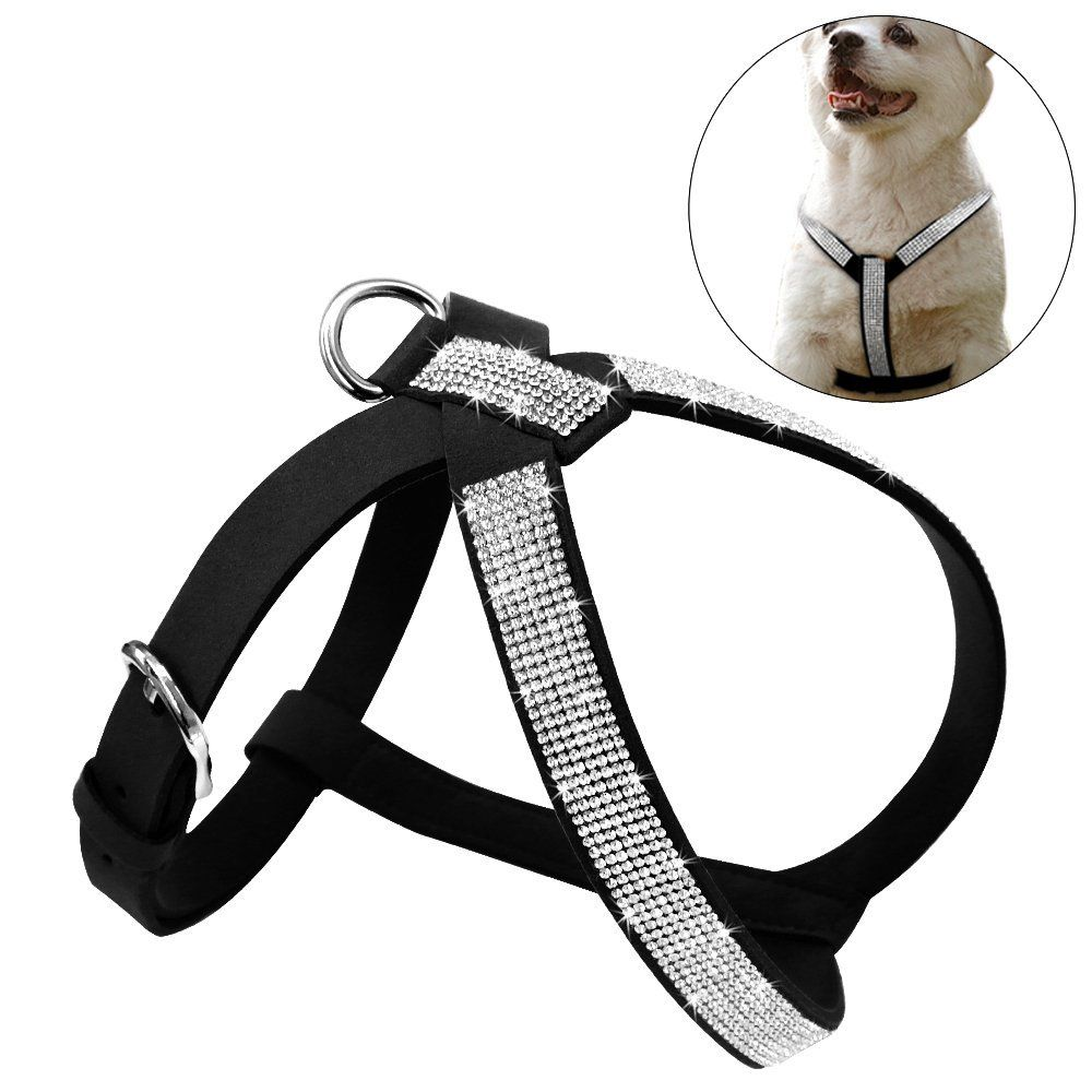 Didog Soft Sparkly Rhinestone Dog Harness For Small And Medium