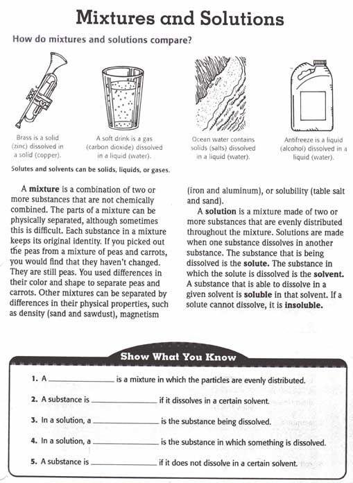 Image Result For Chemistry For Grade 5 Science Worksheets