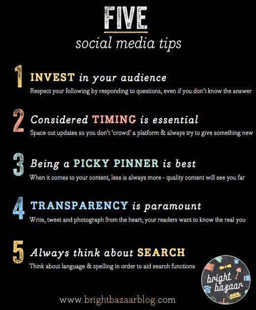 5 social media tips.