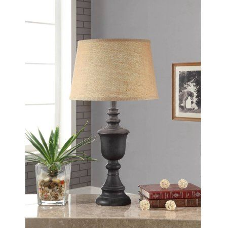Better Homes and Gardens Rustic Wood Finish Table Lamp Walmartcom