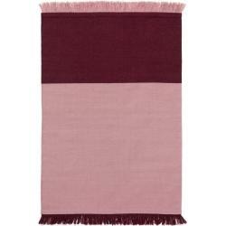 Photo of benuta Wollteppich Blok Rosa/Dunkelrot 160×230 cm – Naturfaserteppich aus Wolle benuta