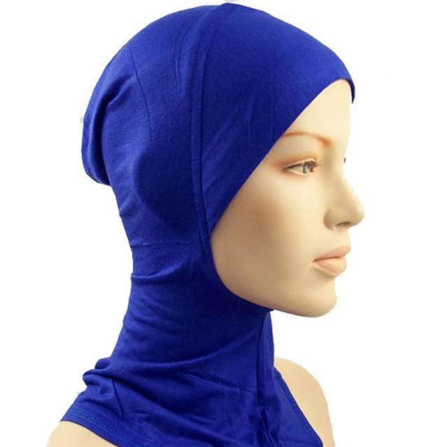 Muslim Women Hijab Under Scarf Inner Cap Bone Bonnet Neck Cover Cap Head Wraps