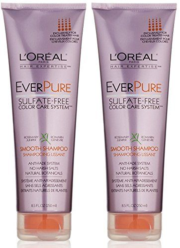 Loreal Paris Everpure Sulfatefree Color Care System Smooth Shampoo 85 Fluid Ounce Pack Of 2 Read More Reviews Of The Produc Shampoo Daily Shampoo Color Care