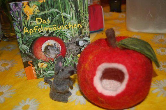 Apple Mouse Felt Apple äpfel Pinterest Mäuse Filzen Und
