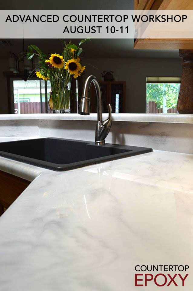 Countertop Epoxy S Next Advanced Countertop Workshop Begins August 10 Spots Are Still Available So Bathroom Countertops Epoxy Countertop Kitchen Countertops
