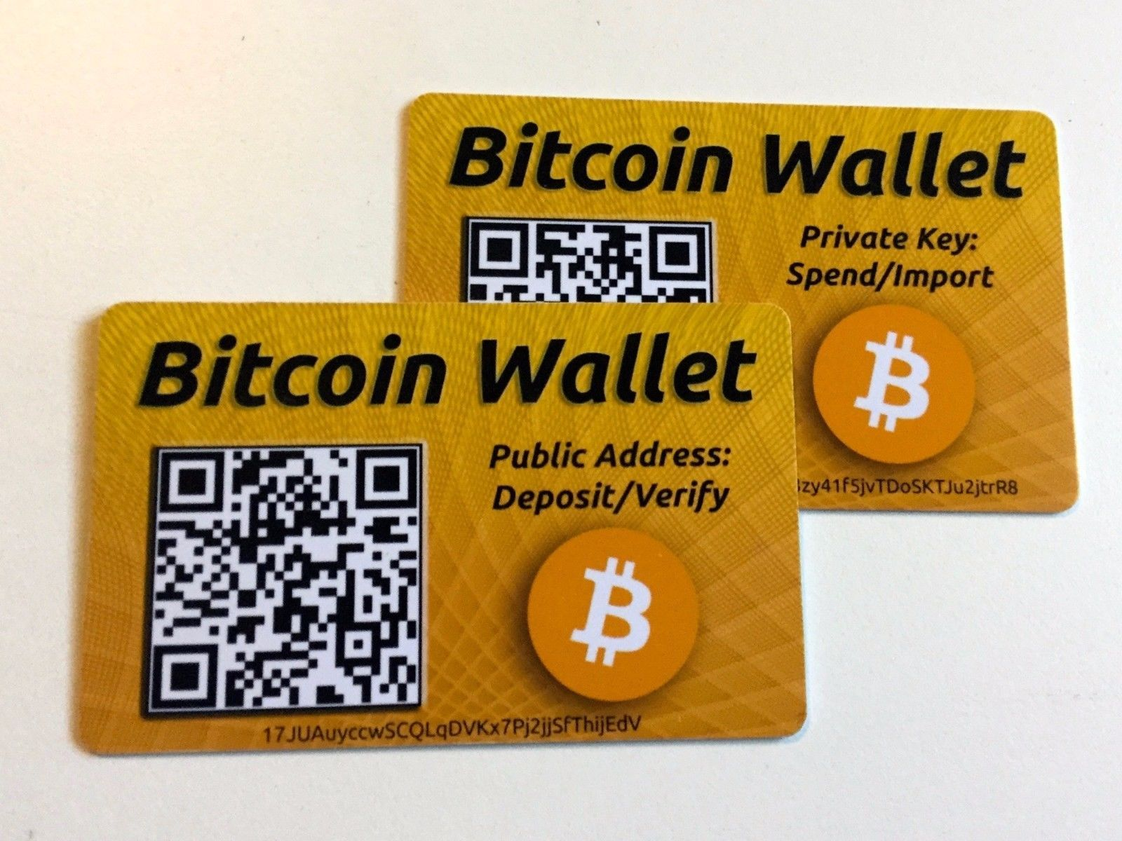 BITCOIN Wallet Safe Offline Storage or GIFT Card – Safely ...