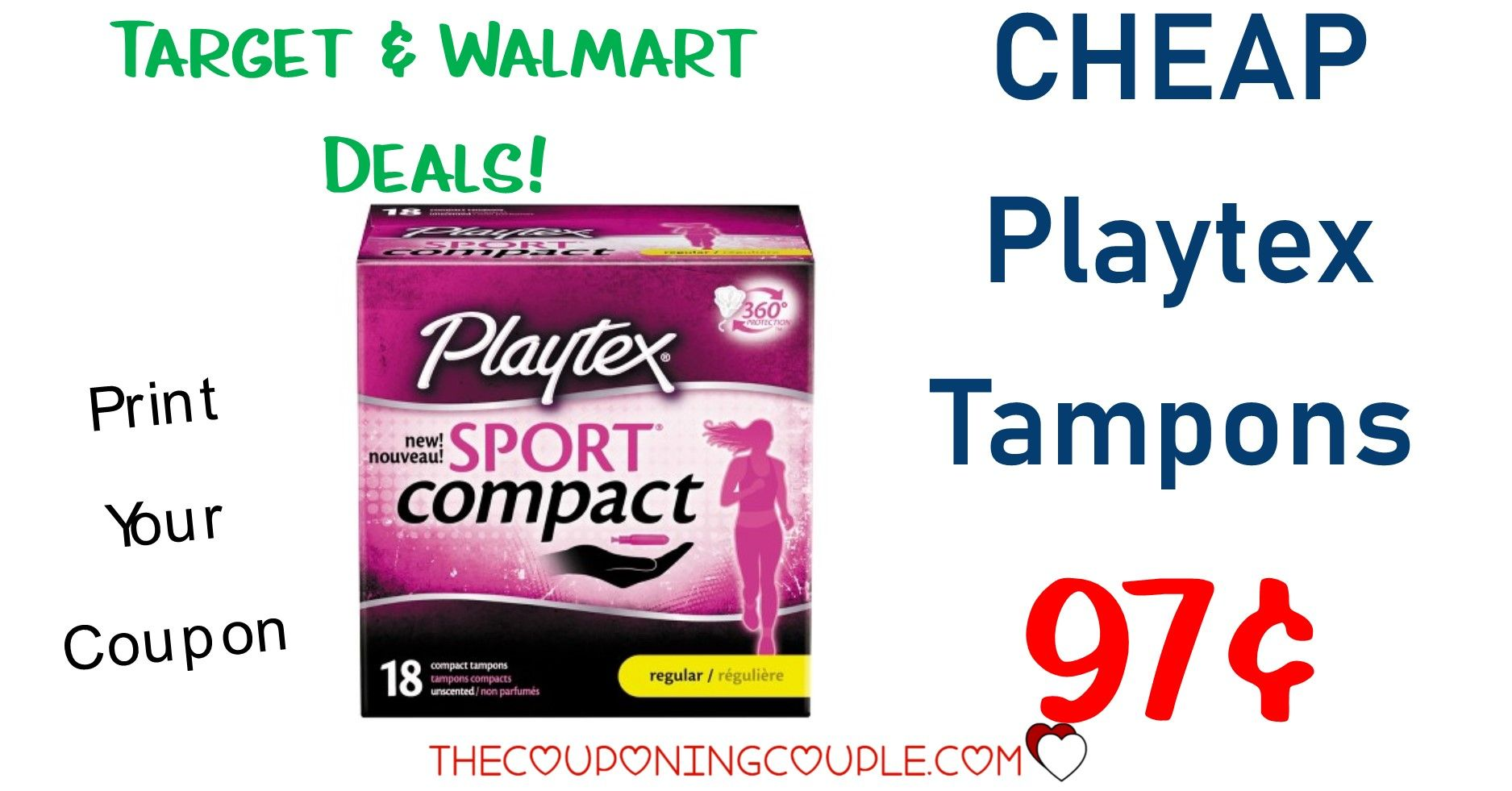 Playtex Sport Compact Tampons Only 0.97 (reg 3.97