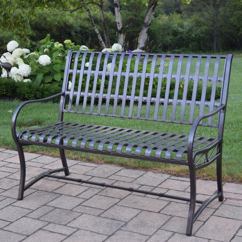 Leora Wooden Garden Bench In 2019 Metal Outdoor Bench
