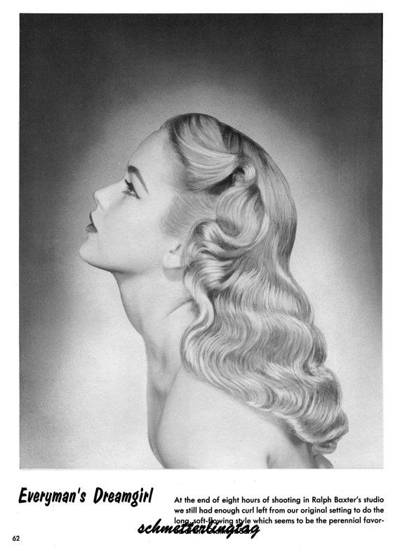 1950s Atomic Hairstyle Book Create 50s Long Hairstyles Ingerid Etsy Hairstyle Books Vintage Hairstyles Long Hair Styles