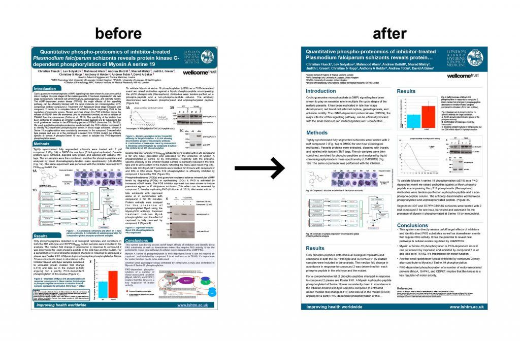 Posters Previously Designed By Researchers Were Redesigned To