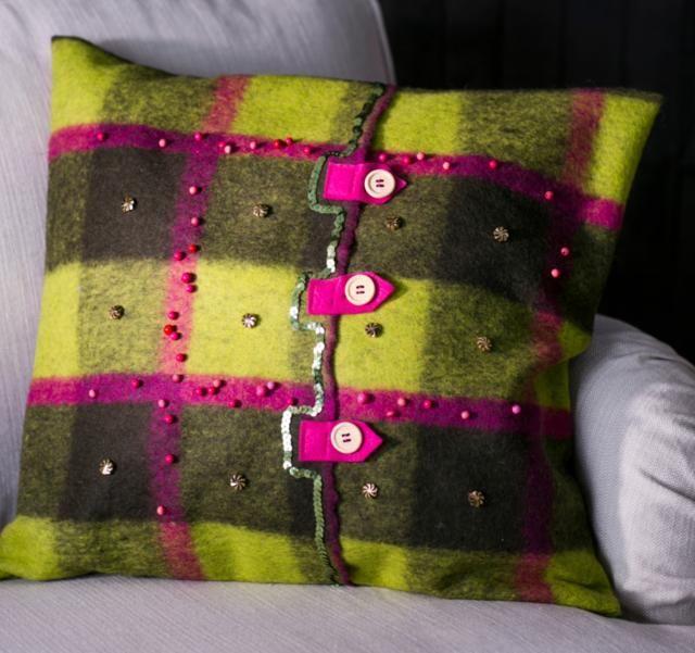 Tee itse villainen tyynynpäällinen | Unelmien Talo&Koti