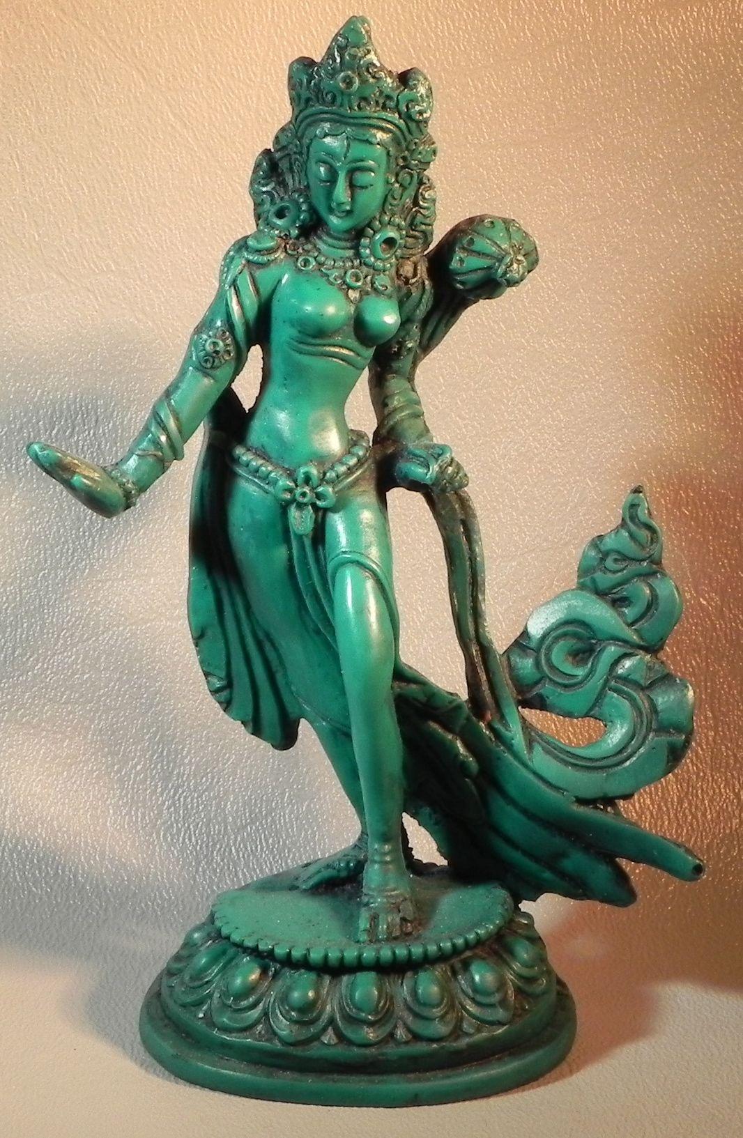 Green tara statue she is the goddess of compassion and mercy in green tara statue she is the goddess of compassion and mercy in green form biocorpaavc Choice Image