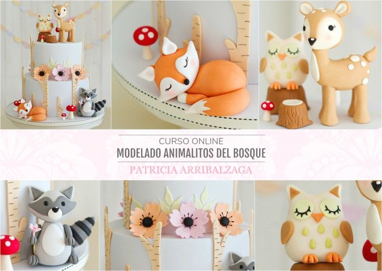 Curso Online de Modelado en Azúcar de Animalitos del Bosque - Patricia Arribálzaga www.cakeshautecouture.com