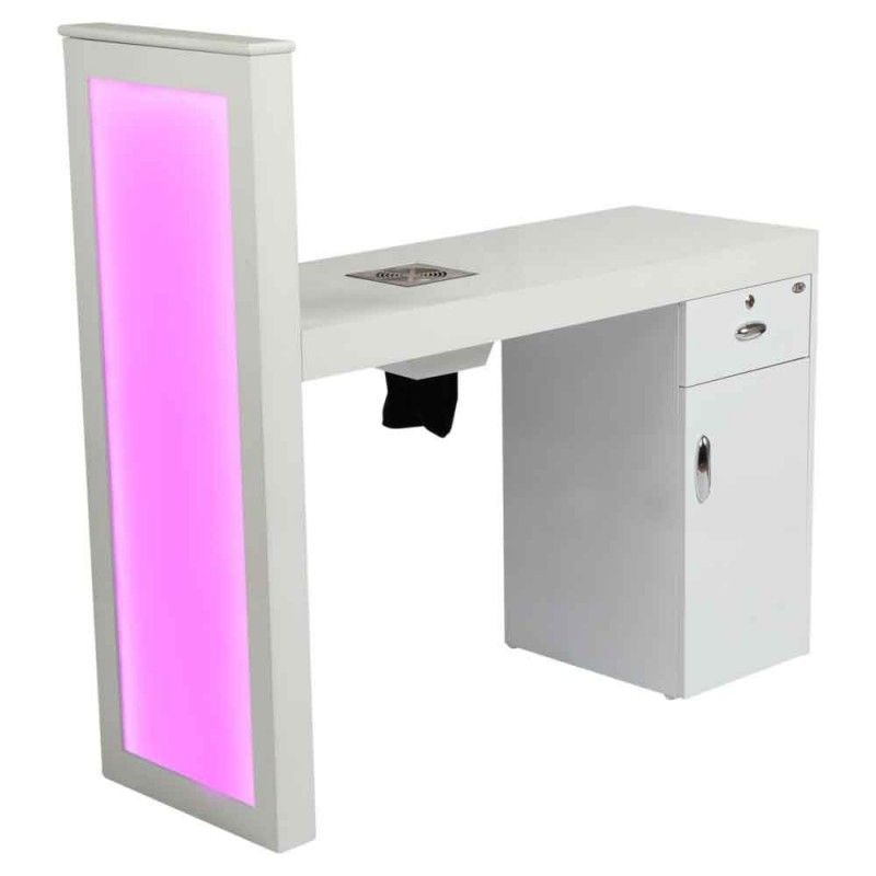 Manicure Table Romantic with Dust Extractor & LED Lighting | Things ...