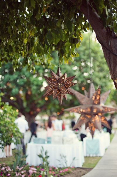 rustic star lanterns