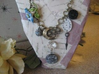 1950s by Moonlight vintage assemblage necklace by originalnoell