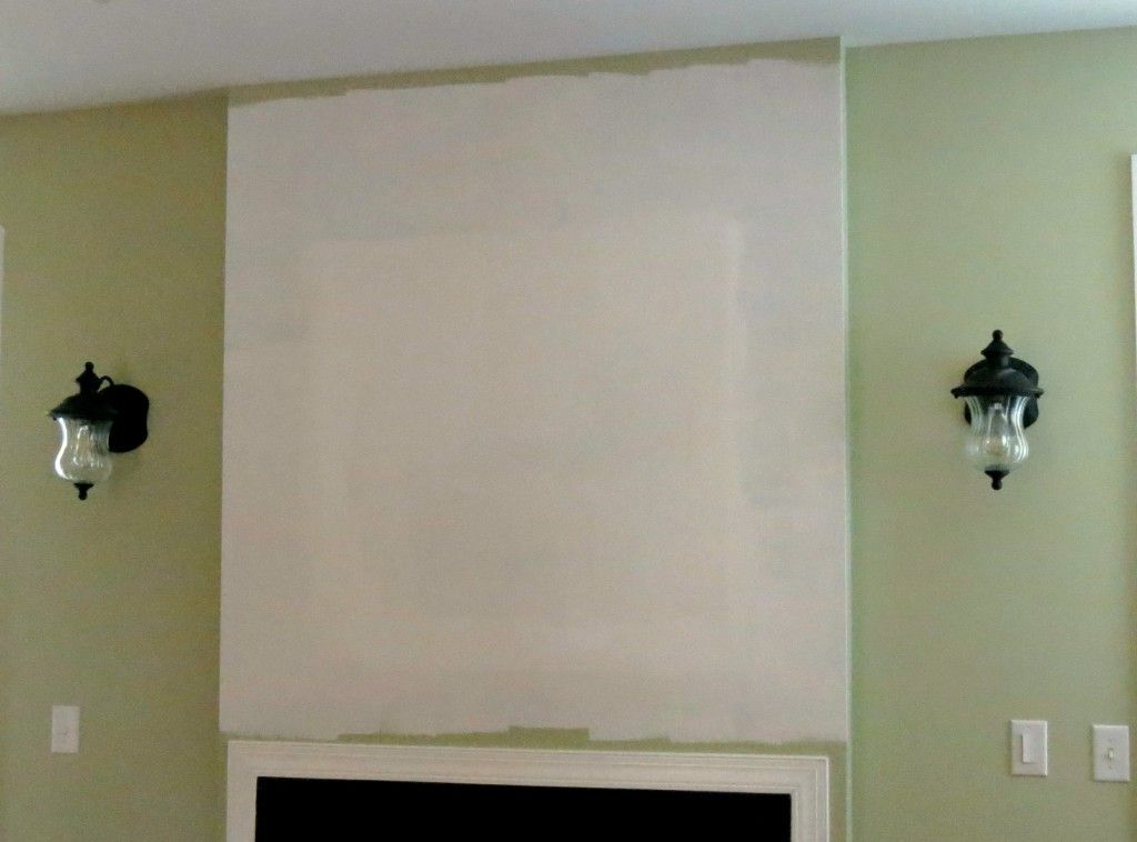 How to close an unwanted wall TV niche above a fireplace | For the ...