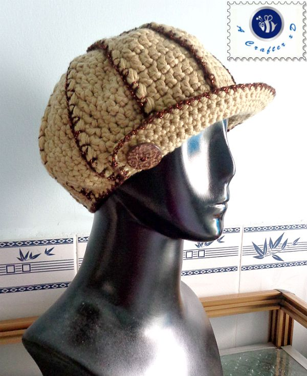 crochet shimmery ribbed newsboy hat | Proyectos que intentar ...