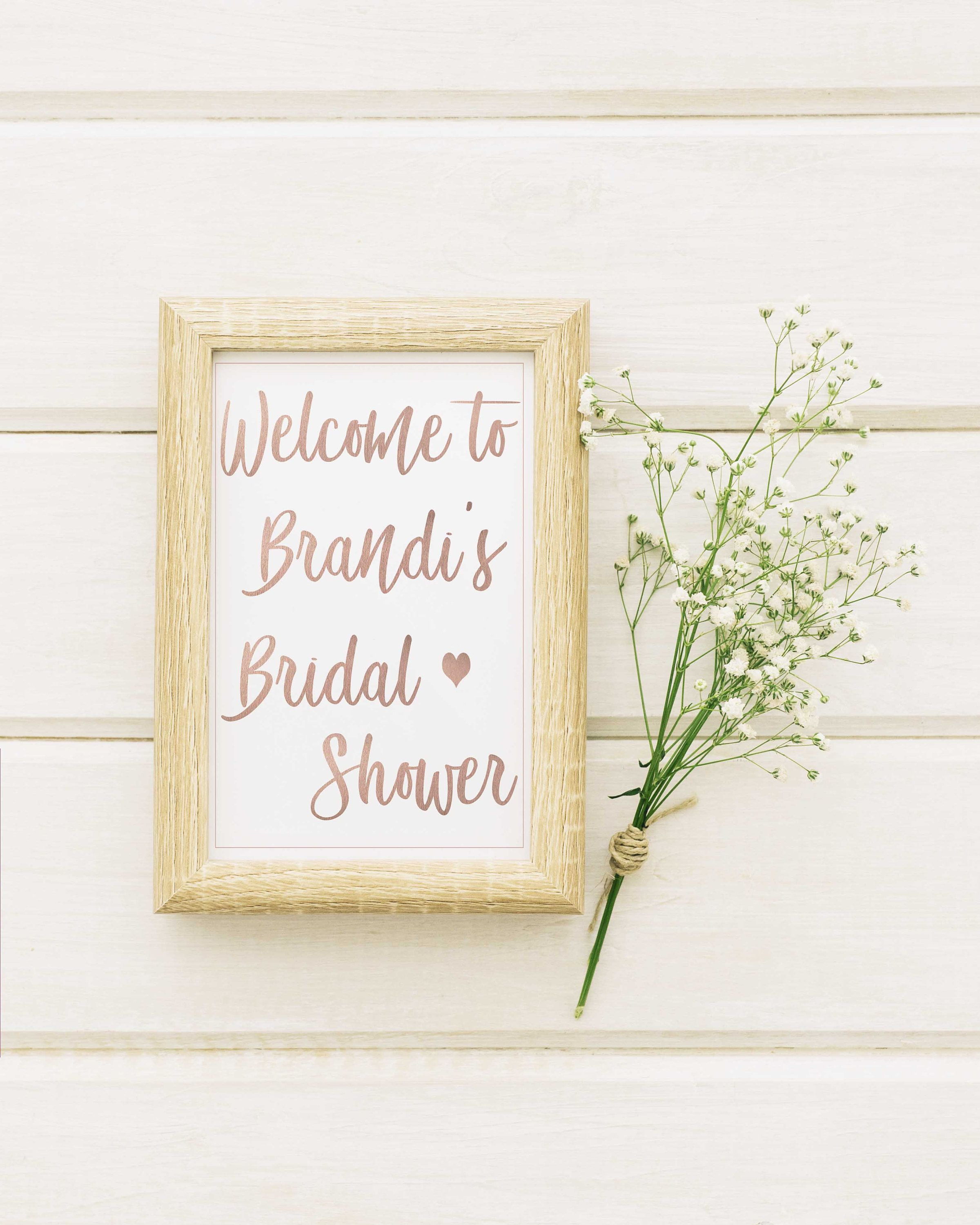 Bridal Shower Welcome Sign Printable Wedding Shower Sign 8X10 Bridal