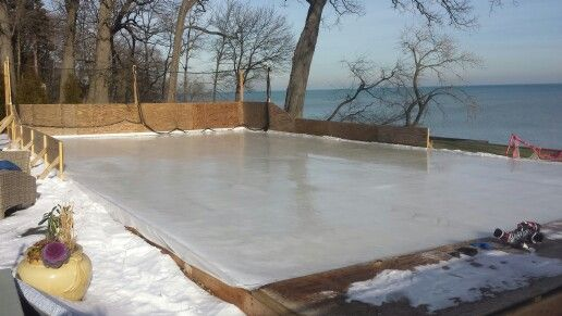 Refrigerated ice rink Winnetka FHH construction | Backyard ...