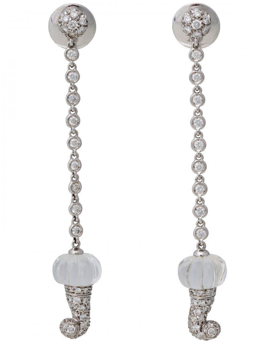 Chantecler Capri 18k Gold Crystal Diamond Earrings Diamond Crystal Fine Jewelry Jewelry