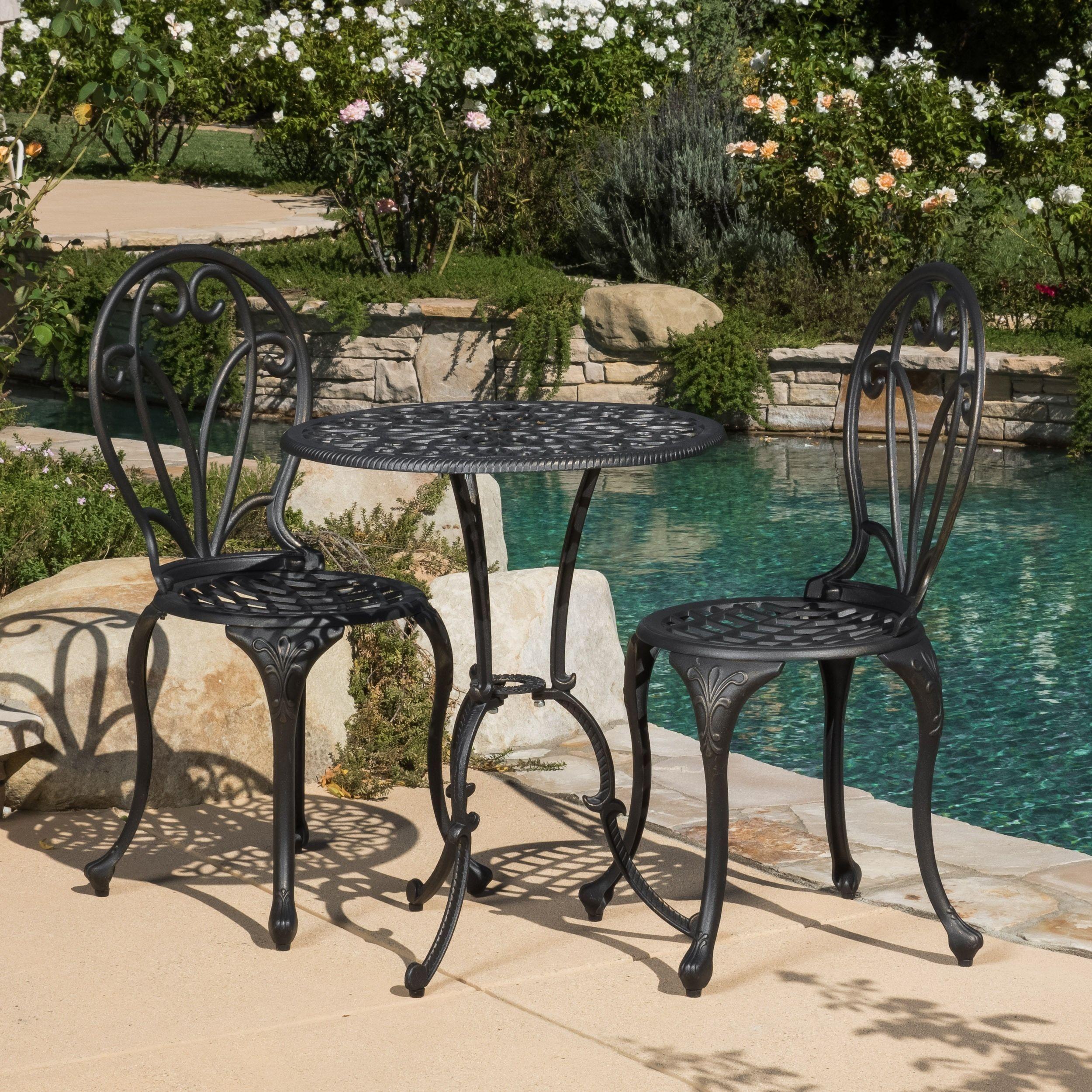 Luxury Patio Furniture Bistro Set