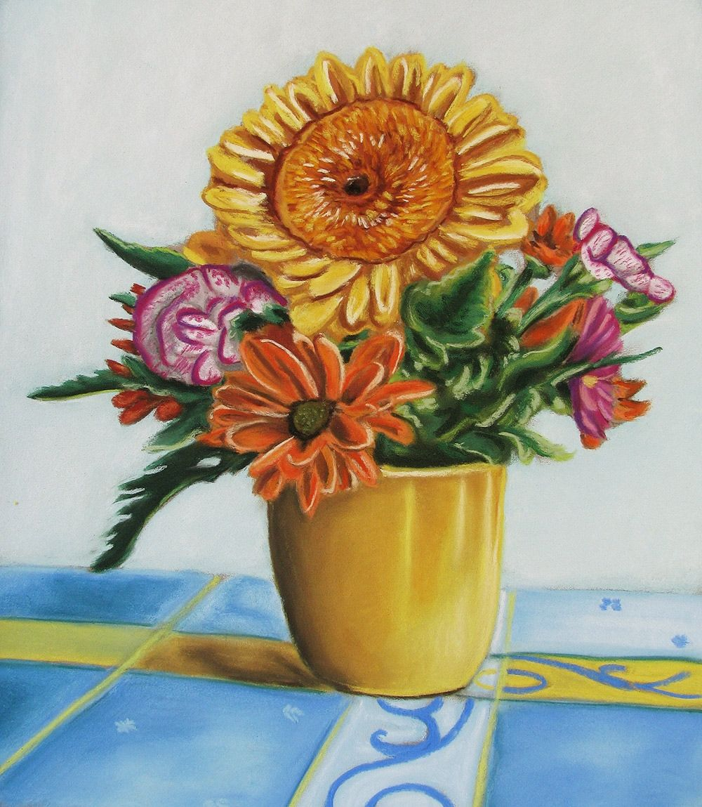 How to draw a flower vase with oil pastels vase pinterest flower reviewsmspy