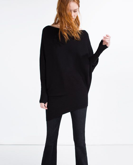 Image 3 of ASYMMETRICAL SWEATER from Zara